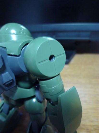 HGBFハイモックの肩の3mm穴