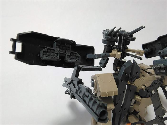 ロボの武装のアップ写真