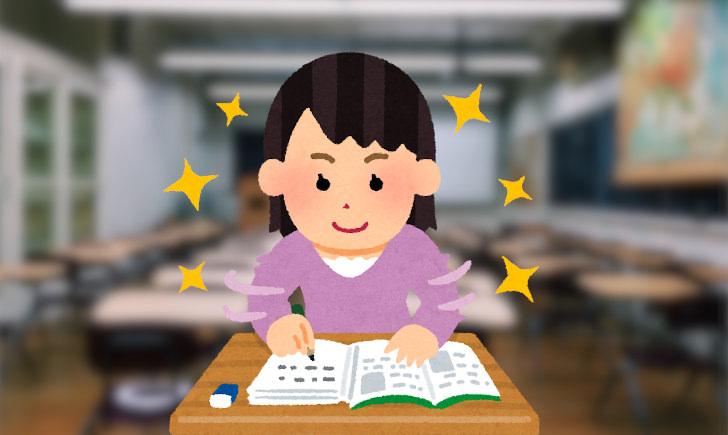 勉強を頑張る浪人生