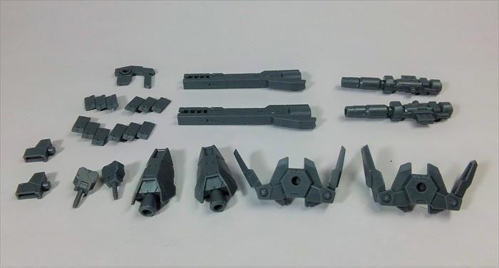 オプションパーツセット1の武装類