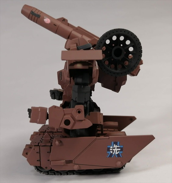 改造したアルト陸戦仕様を横から見た様子