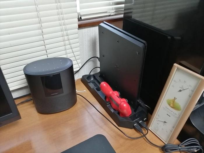 PS4スタンドを実際に設置した様子